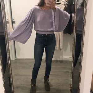 Elizabeth and James will like lavender blouse
